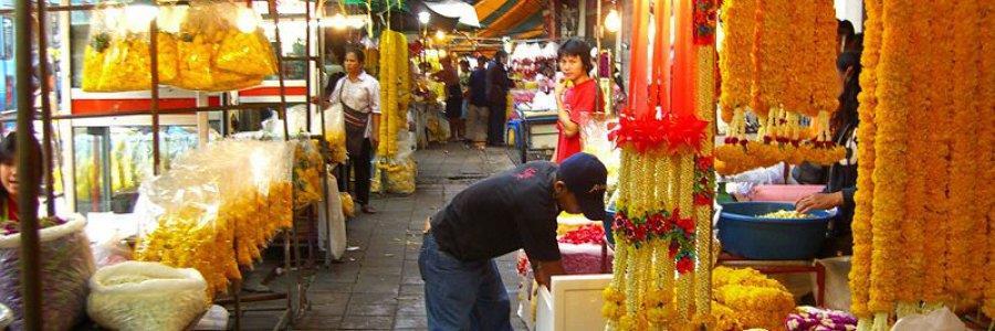שוק הפרחים של בנגקוק, תאילנד